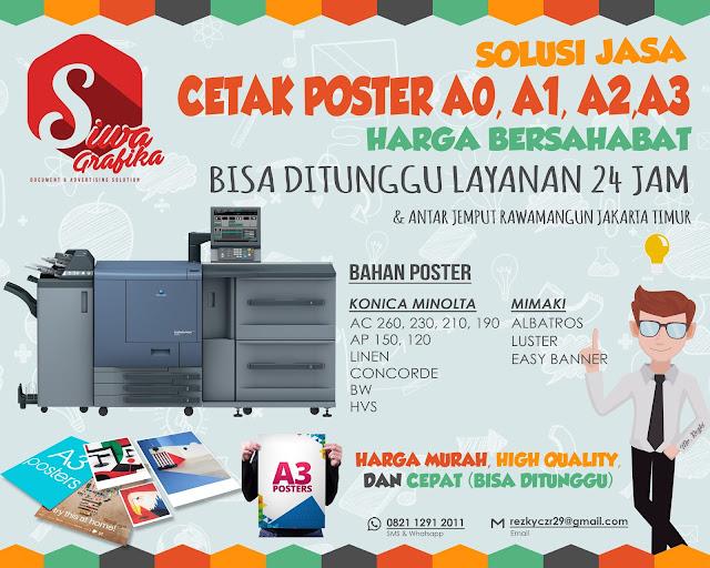 Cetak Poster A3 Murah di Rawamangun Jakarta Timur