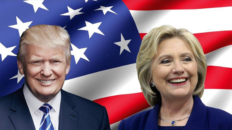 Trump still leading Hillary Clinton with slim margin in US presidential elections