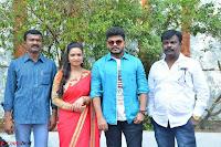 Bhimbika in Red Orange Saree at Sikhandi Movie Launch Spicy Pics 6.jpg
