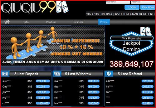 Qiuqiu99.com Agen Judi Domino Online Terpercaya Di Indonesia