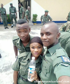 A Nigeria woman who saw Hell before she becomes a Soldier Shares Her Photos