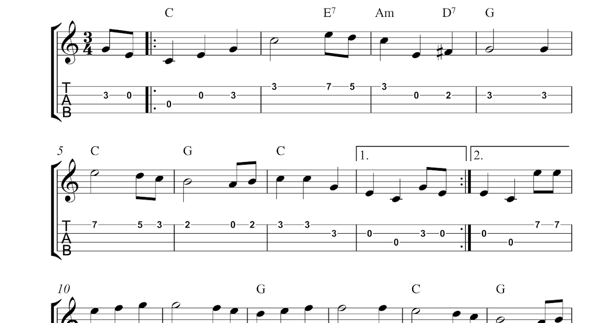 Free Printable Sheet Music: The Star-Spangled Banner : Free ukulele tablature sheet music