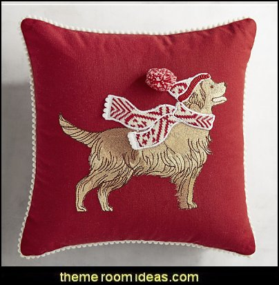 Golden Retriever Mini Pillow  Christmas decorating ideas - Christmas decor - Christmas decorations - Christmas kitchen decor - santa belly pillows - Santa Suit Duvet covers - Christmas bedding - Christmas pillows - Christmas  bedroom decor  - winter decorating ideas - winter wonderland decorating - Christmas Stockings Holiday decor Santa Claus - decorating for Christmas - 3d Christmas cards