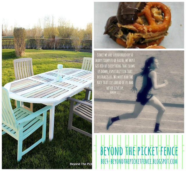 patio table update, gluten free pretzels, inspiring verse