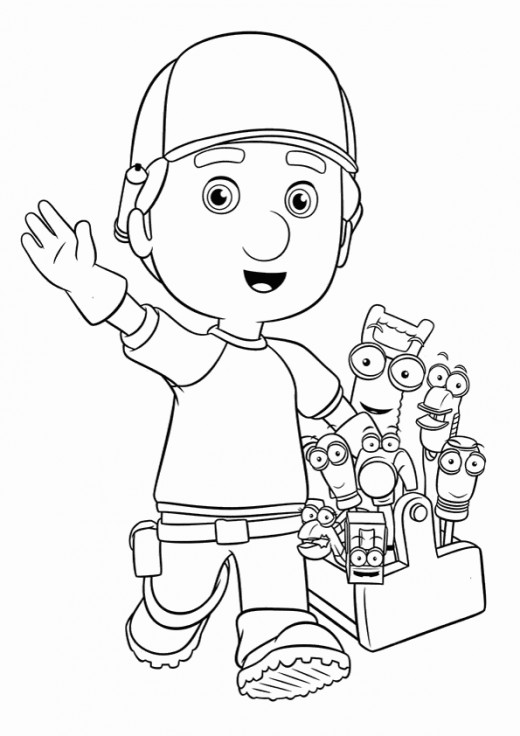 Fun Coloring Pages: Handy Manny Coloring Pages