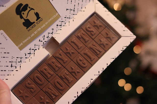 Morse Toad chocolate gift card - sorry it's not gin