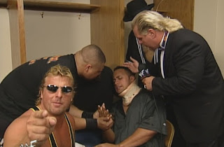 WWF - Over the Edge 1998 Review - The Nation tend to a hurt Rock backstage