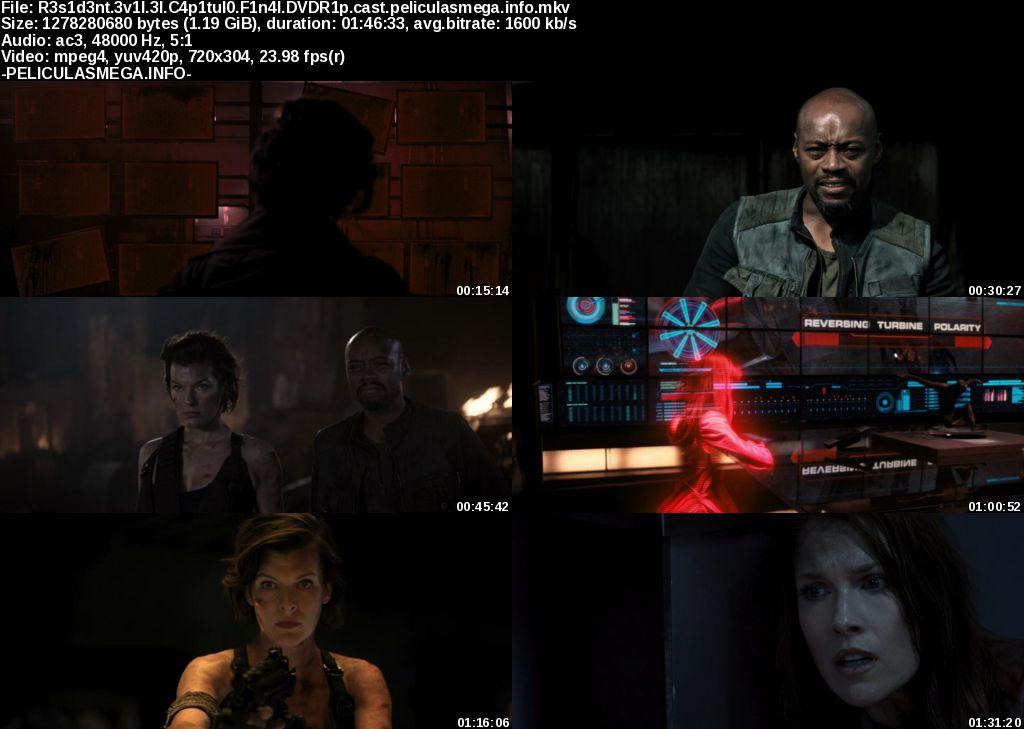 Descargar Resident Evil: El capítulo final Castellano por MEGA.