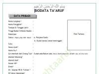Contoh Biodata Ta Aruf Akhwat Minatoh