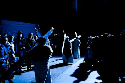 Streetwise Opera and The Sixteen's The Passion. Photo by Graeme Cooper