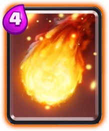 Carta Bola de Fogo (Fireball) de Clash Royale - Cards Wiki