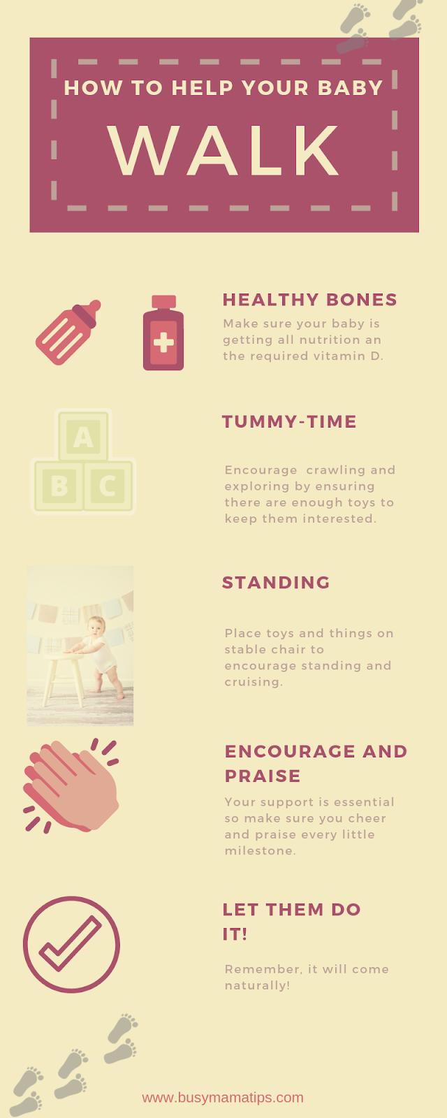 Helping baby walk tips