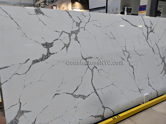 Calacatta bruno quartz for kitchen countertops NYC