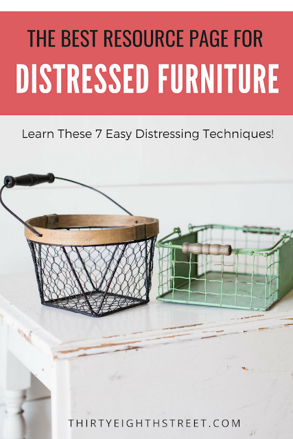 how to distress furniture tutorial