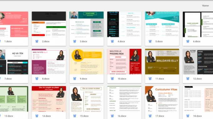 Chia sẻ 100 mẫu CV xin việc cực đẹp miễn phí