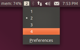 Workspaces Indicator Ubuntu 11.04