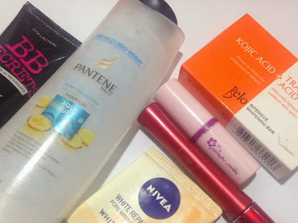 February Product Empties (Pantene Pro V Aqua Pure, BB Screts , Nivea etc.)
