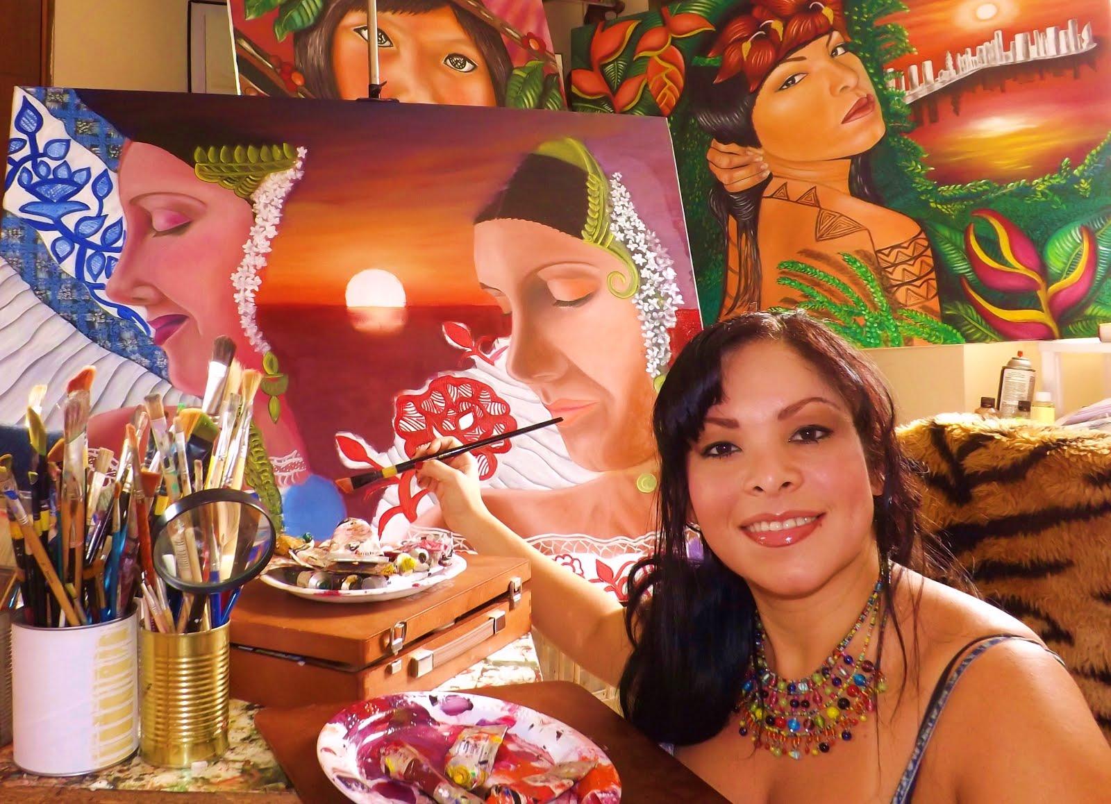 Lineth Márquez Pintora Panameña: Sentimientos Autóctonos