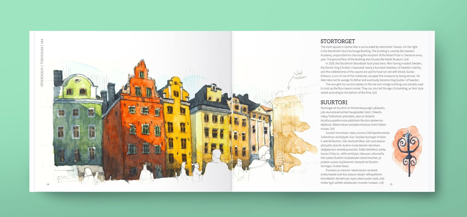 Elegant A peek inside An Urban Sketcher us Guide to Helsinki a page book by T K Justin Ng