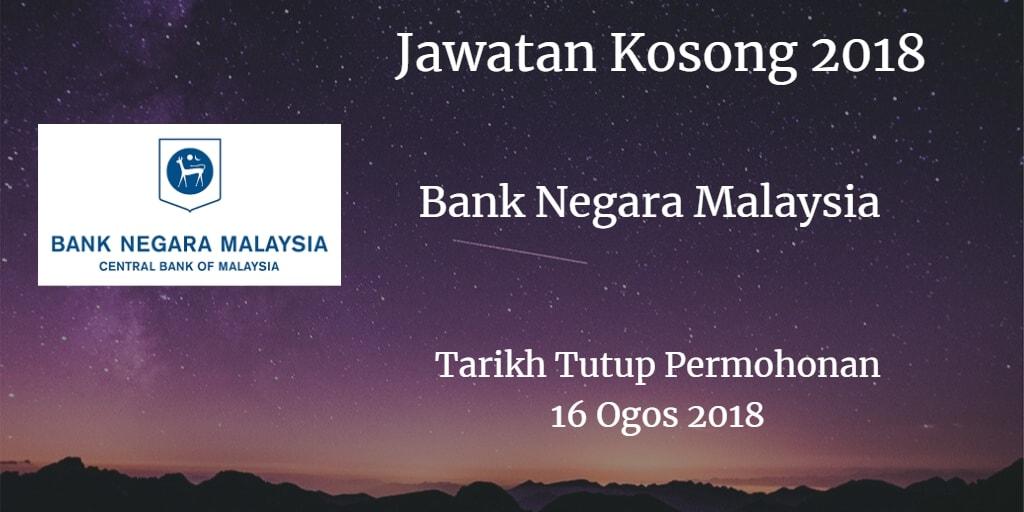 Jawatan Kosong BNM 16 Ogos 2018