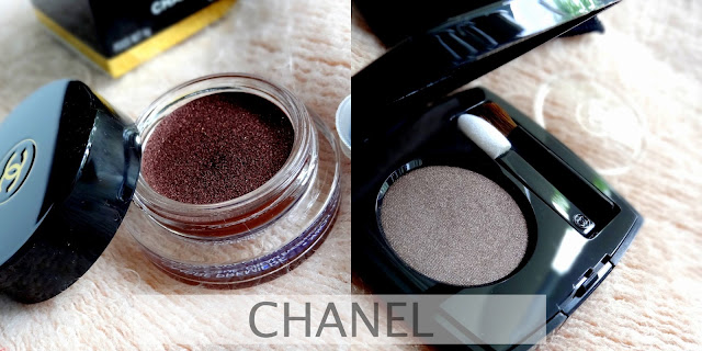 Chanel Ombre Premiere Longwear Cream and Powder Eyeshadows in Pourpre Profond and Talpa