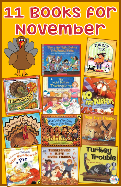 The Best Thanksgiving and November books to read for the primary grades