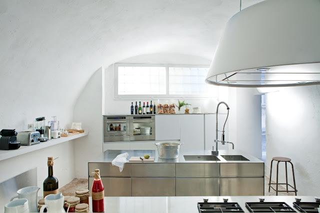 cocina de acero