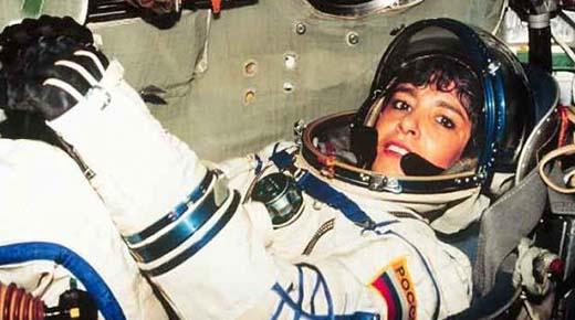 Astronauta francesa gritó