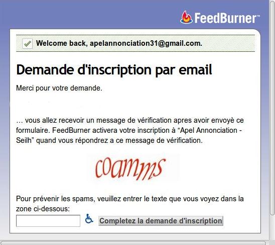 inscription newsletter - apal annonciation