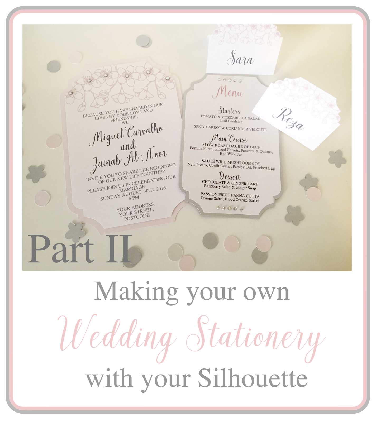 Silhouette UK: Making Your Own Wedding Stationery