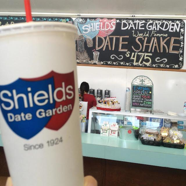 Shields Date Garden Cafe Menu