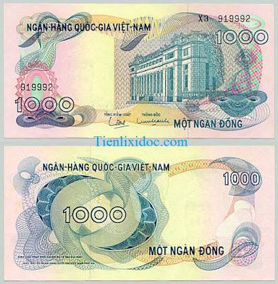 1000 đồng việt nam cộng hòa 1969