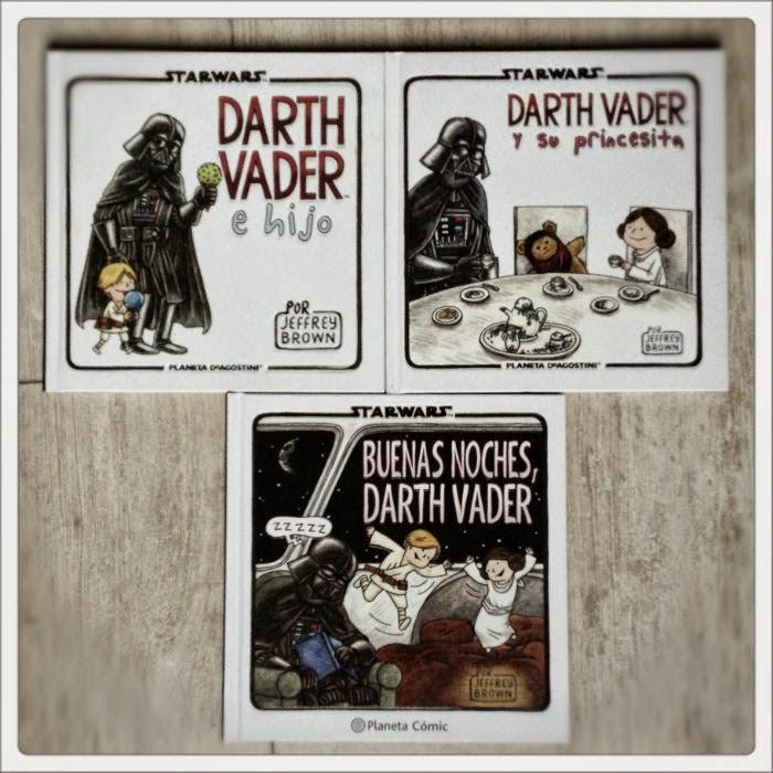 Darth Vader e hijo, Darth Vader y su princesita, Buenas noches Darth Vader de Jefrey Brown, edita Planeta Comic