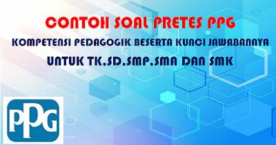 Contoh Soal Pretes PPG Kompetensi Pedagogik Beserta Kunci Jawabannya untuk TK,SD,SMP,SMA dan SMK