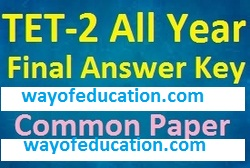 TET-2 All Year Final Answer Key For Common Paper