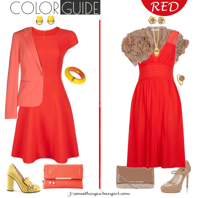 Pretty red dresses for Warm Spring seasonal color women by 30somethingurbangirl.com