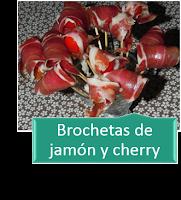 BROCHETAS DE JAMÓN Y TOMATES CHERRY