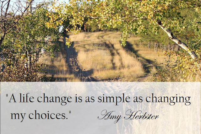 A life change is as simple as changing my choices.