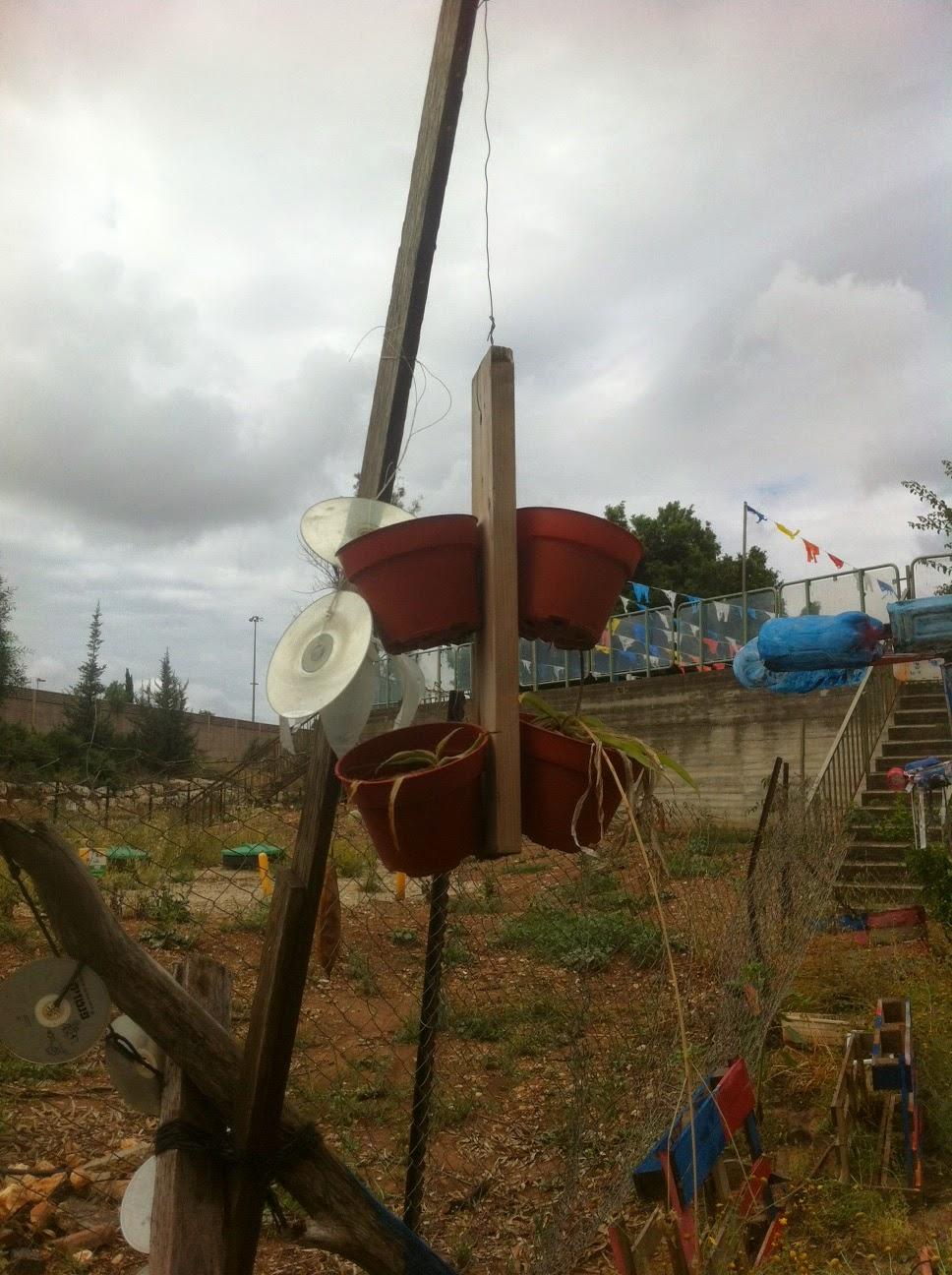 מתקן עציצים ודיסקים