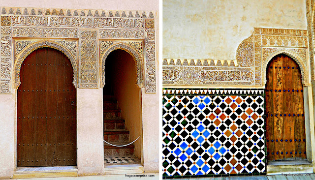 Alhambra, Granada, pátios dos palácios násridas (nazaríes)