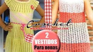 Vestido para Niñas de 6 a 9 años al Crochet / 2 Tutoriales