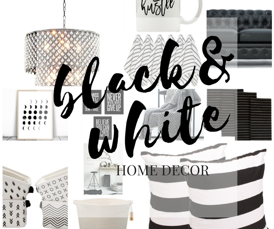 black decor, white decor, black and white decor, home decor, interior designing, black and white design