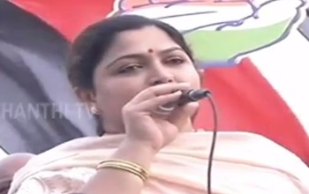 Khushboo campaigns for Congress Candidate Karate Thiagarajan at Pattinapakkam – Thanthi Tv