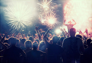 Concert with fireworks