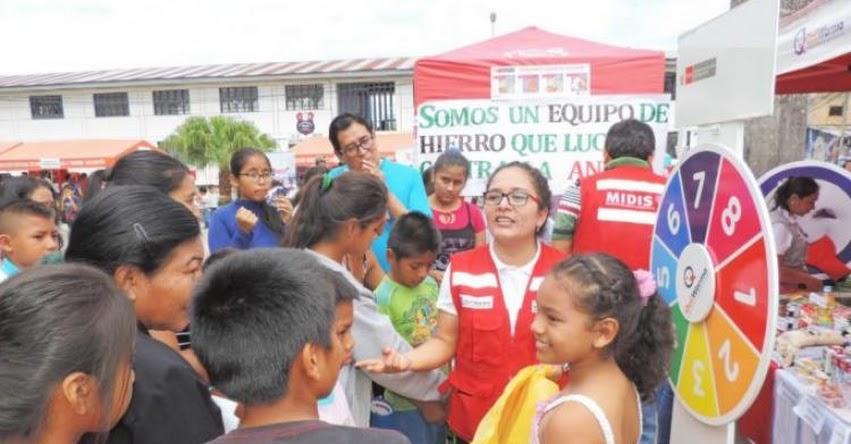Midis - Qali Warma promueve el consumo de alimentos ricos en hierro en feria informativa y demostrativa en Moyobamba, Región San Martín- www.qaliwarma.gob.pe