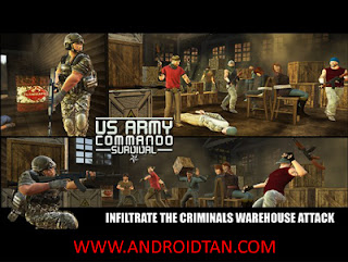 Download US Army Commando Survival Mod Apk v1.0 (Unlimited Money) Terbaru