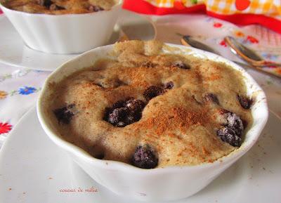 Bizcocho exprés con harina de castaña y sarracena y sin gluten y sin lactosa