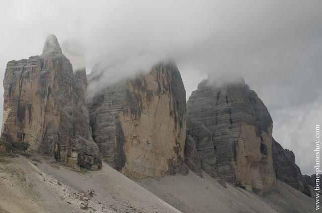 Montañas Dolomitas Italia trekking Tres Cimas de Lavaredo