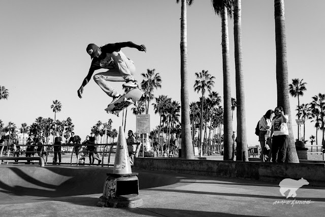 Kid got ups! Venice Beach Skatepark.