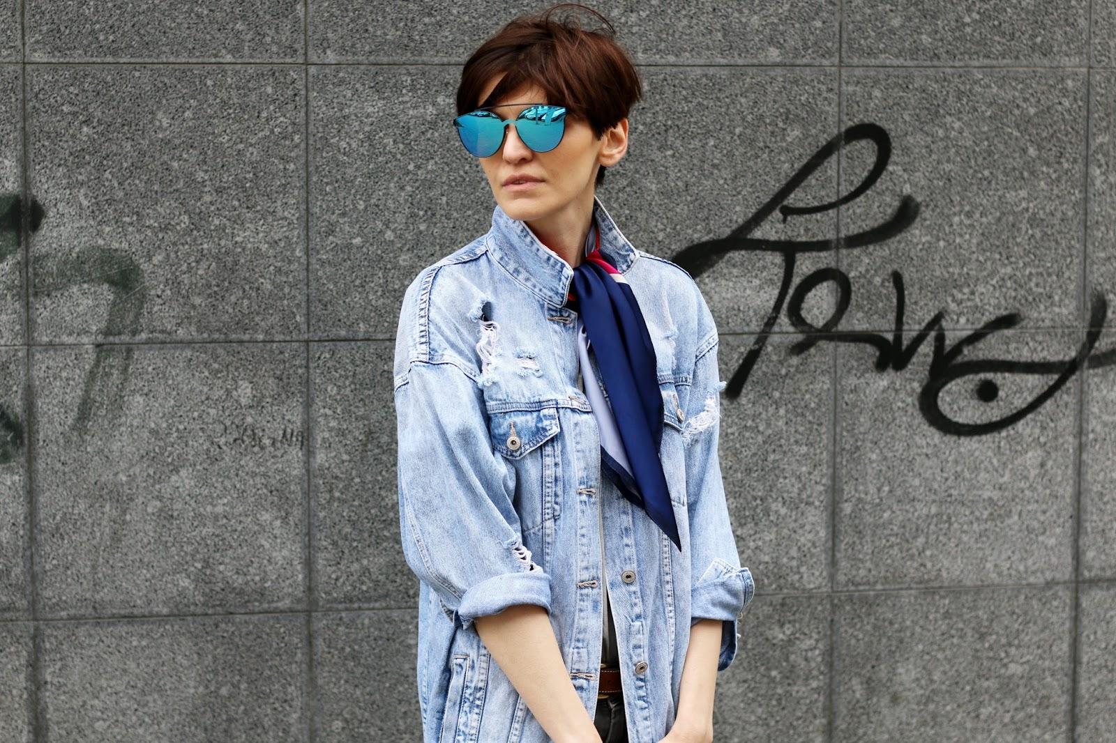 kurtka jeans, jeans oversize, kurtka dżinsowa, oversie, denim jacket, jacket, denim, streetstye, blogerka, blogerstyle, stylistka, porady stylistki, stylistka poznań, stylizacje,
